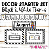 Classroom Decor EDITABLE | Black and White Theme