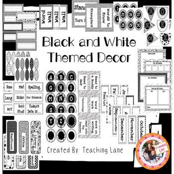 Classroom Decor-Black and White Theme