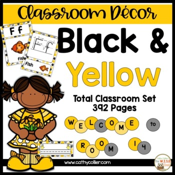 Classroom Decor: Black and Yellow
