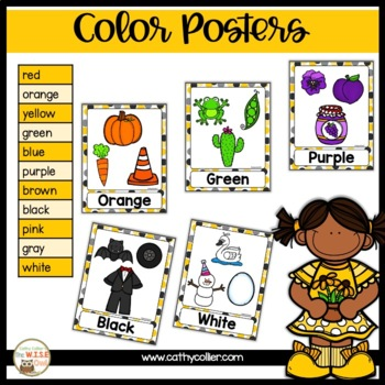 Classroom Decor: Black and Yellow Color and Shape Poster