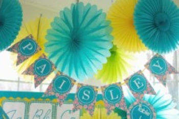 Classroom Decor Blue Paisley Pop - Full Collection Bundle