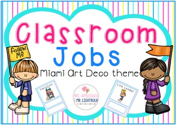 Classroom Decor Blue Pink Aqua Yellow : Jobs