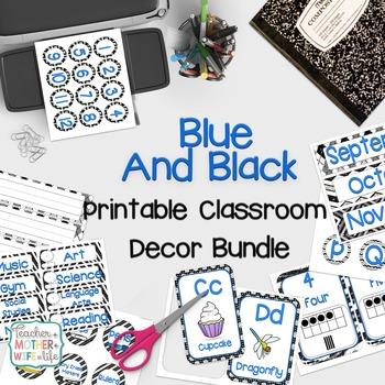 Classroom Decor - Blue and Black