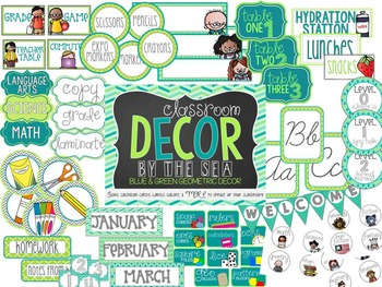 Classroom Decor Blue and Green {By The Sea}