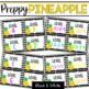 Classroom Decor & Book Bin Bundle: Preppy Pineapples Black & White