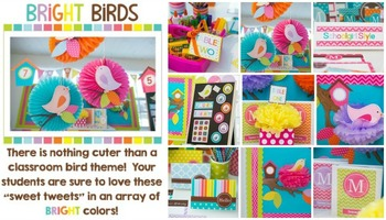 Classroom Decor Bright Birds - Full Collection Bundle