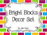 Classroom Decor- Bright Blocks