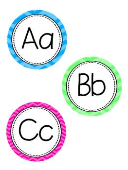 Classroom Decor - Bright Chevron
