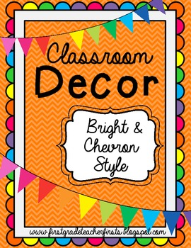 Classroom Decor - Bright & Chevron Style