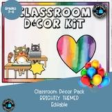 Classroom Decor Bright Colored- Editable ideal for Bulletin Boards