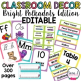 Classroom Decor - Bright Polkadots Theme