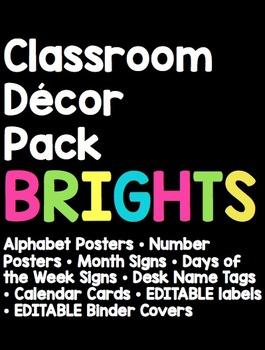 Classroom Decor - Brights