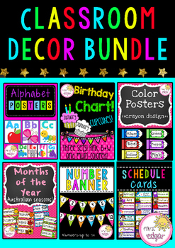 Classroom Decor Bundle By Mrs Edgar