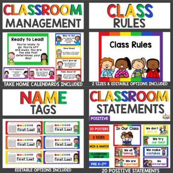 Classroom Decor Primary Colors Bundle