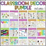 Classroom Decor Bundle - Volume 1