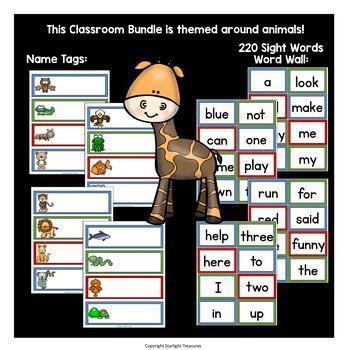 Classroom Decor Pack - Animal Theme