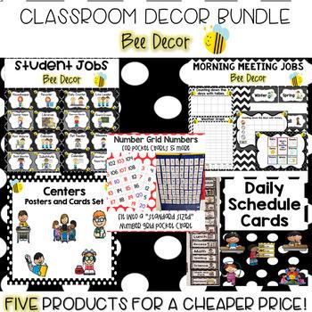 Classroom Decor Bundle- Bee Theme