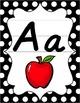Classroom Decor Bundle - Black & White Polka Dot - D'Nealian Manuscript
