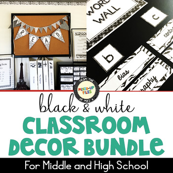 Black and White Classroom Decor Bundle
