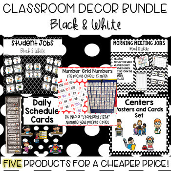 Classroom Decor Bundle- Black and White