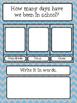 Classroom Decor Bundle - Blue and Gray Chevron Design