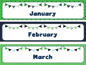Classroom Decor Bundle: Blue and Green