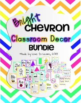 Classroom Decor Bundle - Bright Chevron