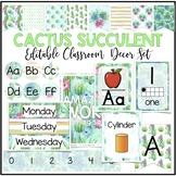 Classroom Decor Bundle - Cactus Succulent
