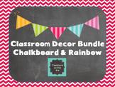 Classroom Decor Bundle {Chalkboard & Rainbow}