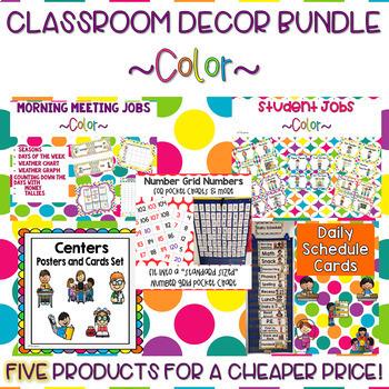 Classroom Decor Bundle- Color