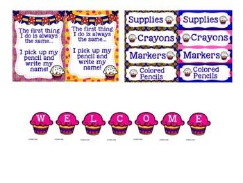 Cupcake Classroom Decor Bundle