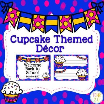 Classroom Decor Bundle Cupcake Theme Back to School