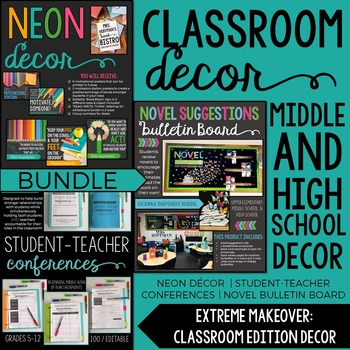 Classroom Decor Bundle: Extreme Makeover Classroom Edition | 3 Products