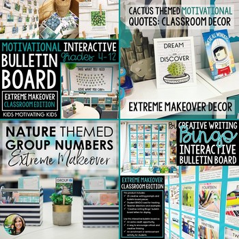 Classroom Decor Bundle: Extreme Makeover Classroom Edition NATURE Theme