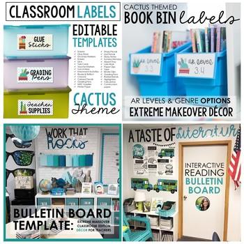 Classroom Decor Bundle: Extreme Makeover Classroom Edition NATURE Theme