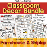 Classroom Decor Bundle: Farmhouse and Shiplap