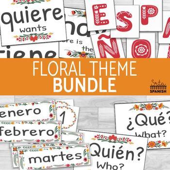 Classroom Decor Bundle Floral Theme