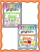 Alphabet Posters and More Bundle: Gingham