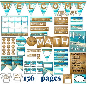 Classroom Decor Set Beach