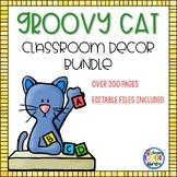 Classroom Decor Bundle {Groovy Cat and Chevron Theme}