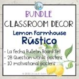 Classroom Decor Bundle Lemon Farmhouse Theme Decoracion Cl