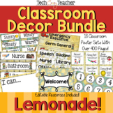 Classroom Decor Bundle: Lemonade