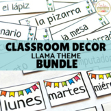 Classroom Decor Bundle Llama Theme