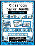 Ocean Classroom Decorations - Classroom Decor - Alphabet, Signs