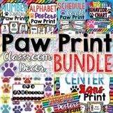Classroom Decor Bundle PAW PRINTS Theme
