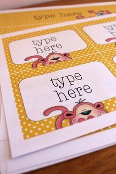 Pink Monkeys Classroom Decor Bundle