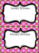 Classroom Decor Bundle - Pink with Purple and Green Polka Dots