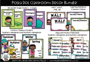 Classroom Decor Bundle {Polka Dot}