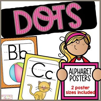Alphabet Posters and More Bundle: Polka Dots
