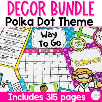 Polka Dot Classroom Bundle Decor
